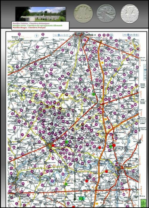 Carte des cimetières